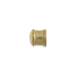 Pewter End Cap - Smooth 8mmH 5.5mm Gold image