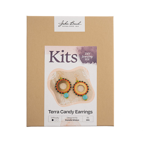 John Bead DIY Jewelry Kit Terra Candy Earrings image
