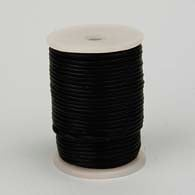 LEATHER GENUINE CORD 2mm ROUND BLACK image
